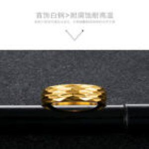 Accessories - Men's Gold Stainless Steel Titanium Band Ring